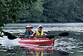 Paddlers on the Blackstone River near Manville